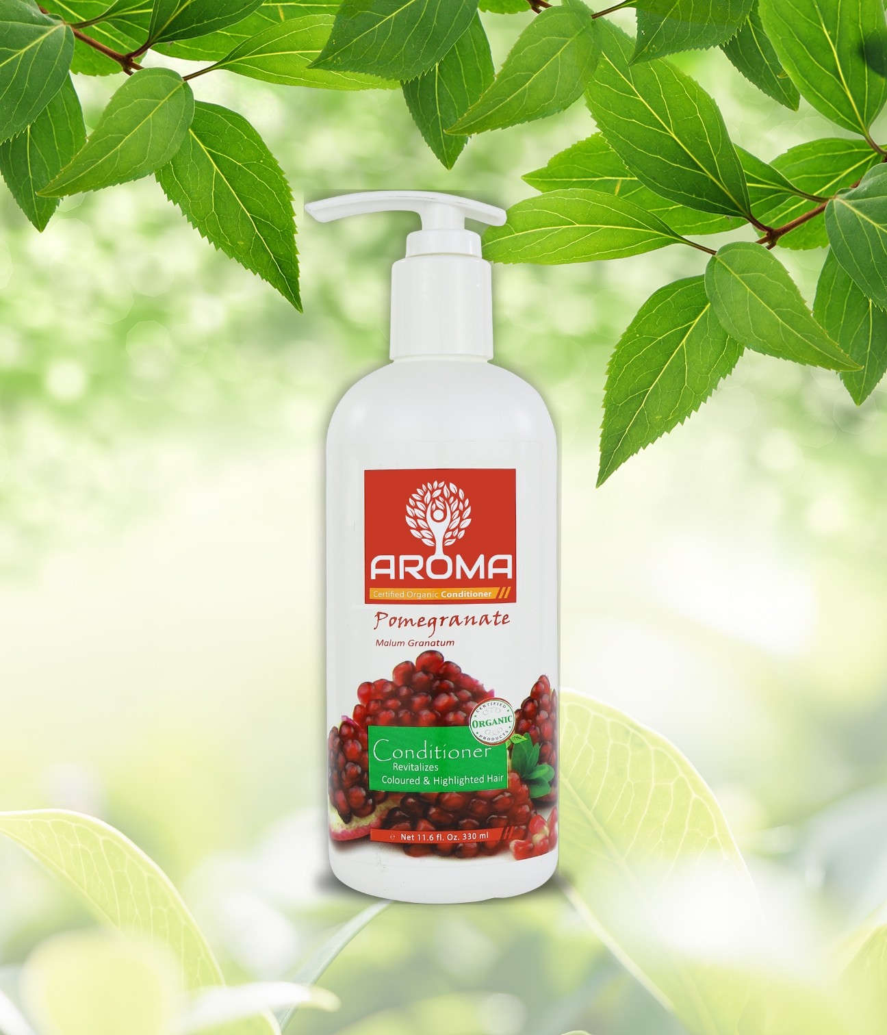 Certified Organic Conditioner-Pomegranate